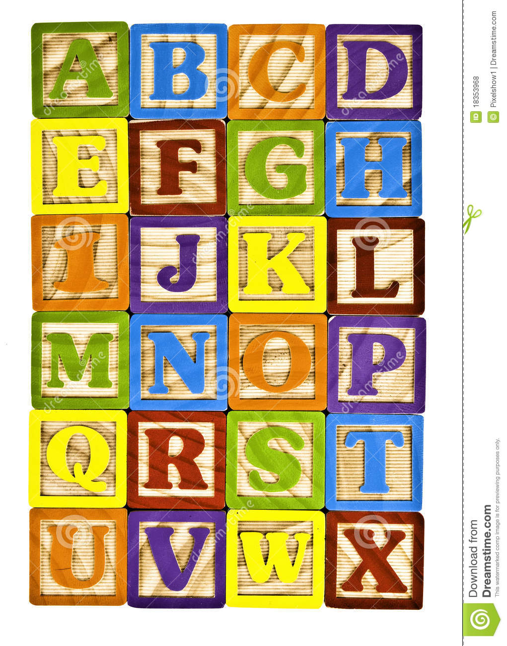 alphabet in block letters