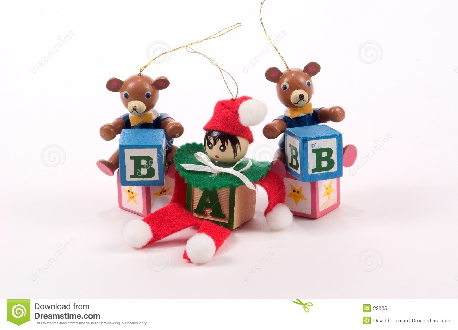 Alphabet Block Tree Ornaments