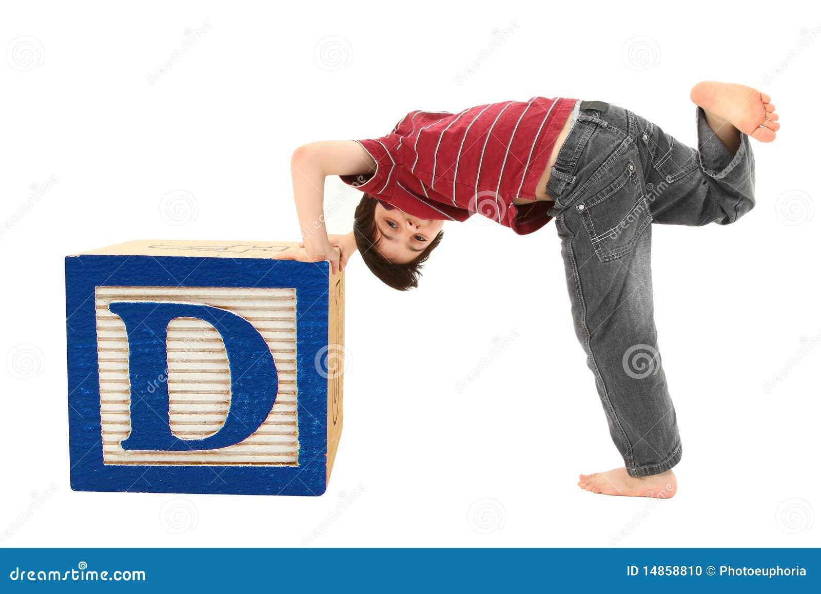 Alphabet Blocks the Letter D