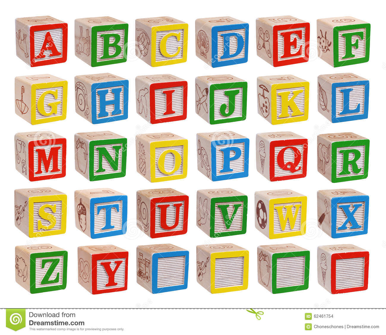 Alphabet Blocks Stock Photo - Image: 62461754