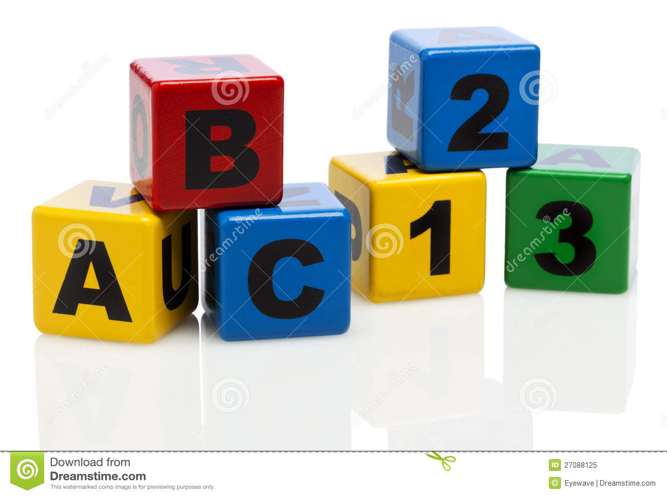 Alphabet Building Blocks Showing ABC And 123 Royalty Free Stock Photo ...