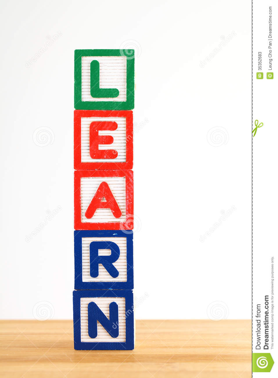 Alphabet Building Blocks That Spelling The Word Learn ...