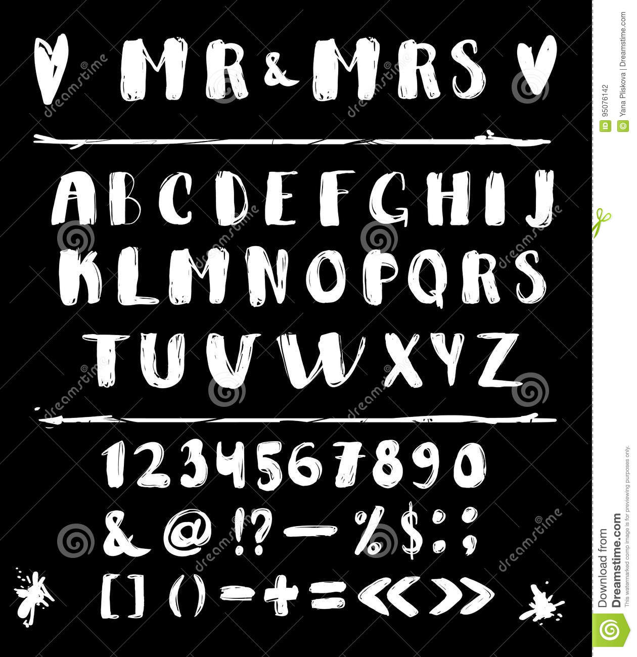 Hand made vector alphabet exclusive custom letters lettering and custom typography for design