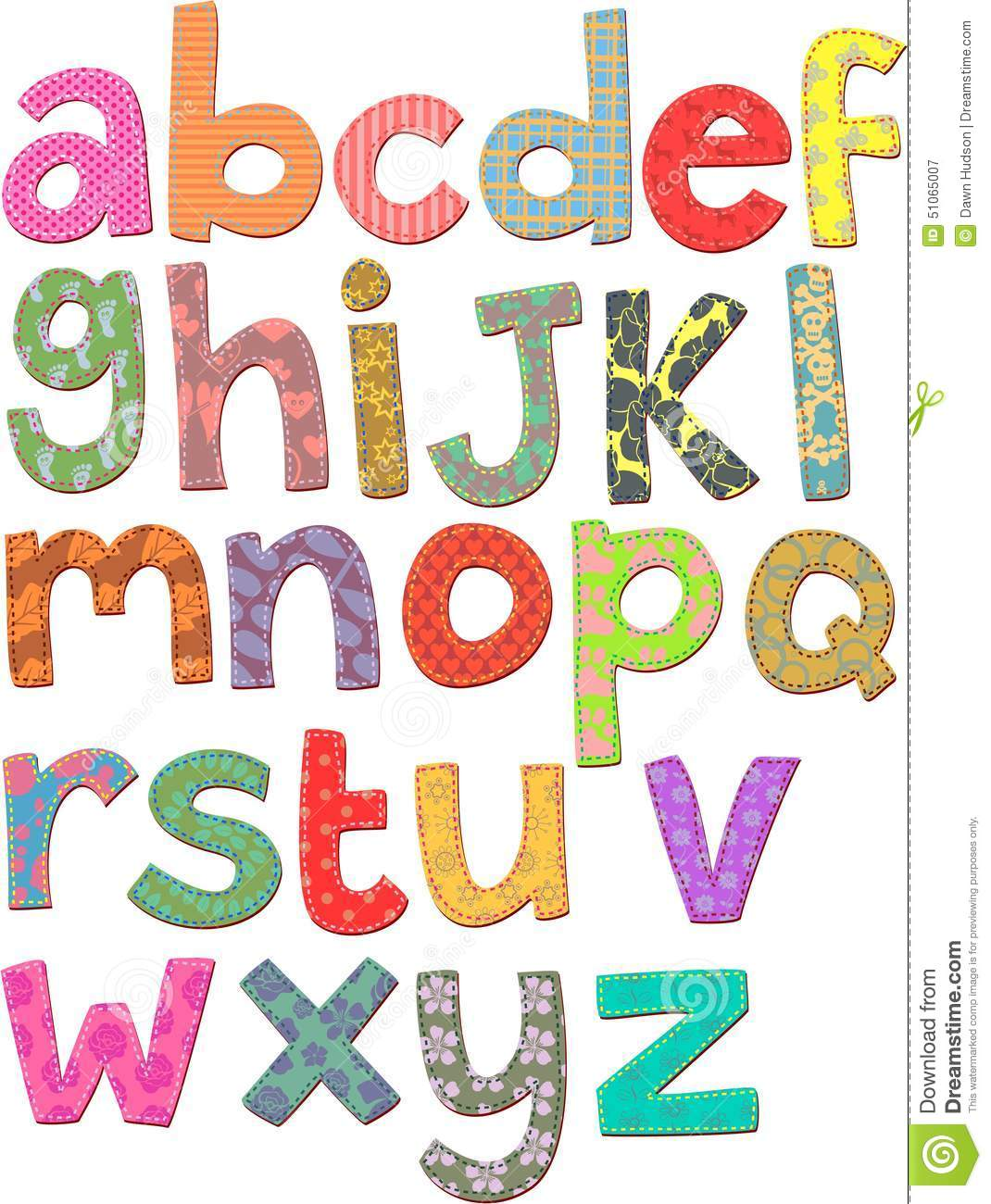 Alphabet Clip Art Stock Illustration Illustration Of Craft 51065007