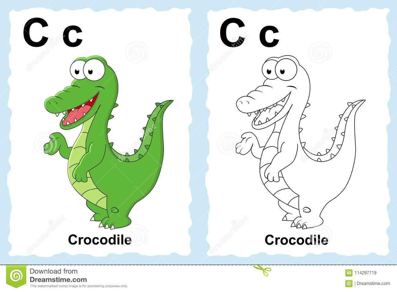 Alphabet Coloring Book Page With Outline Clip Art To Color. Lett ...