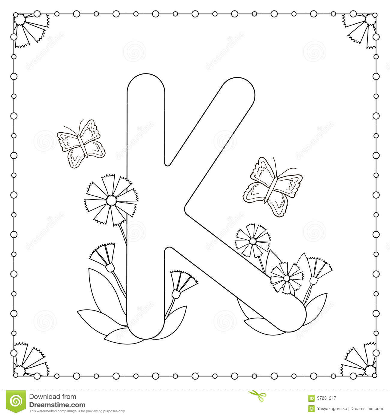 Alphabet coloring page stock vector. Illustration of illustration ...