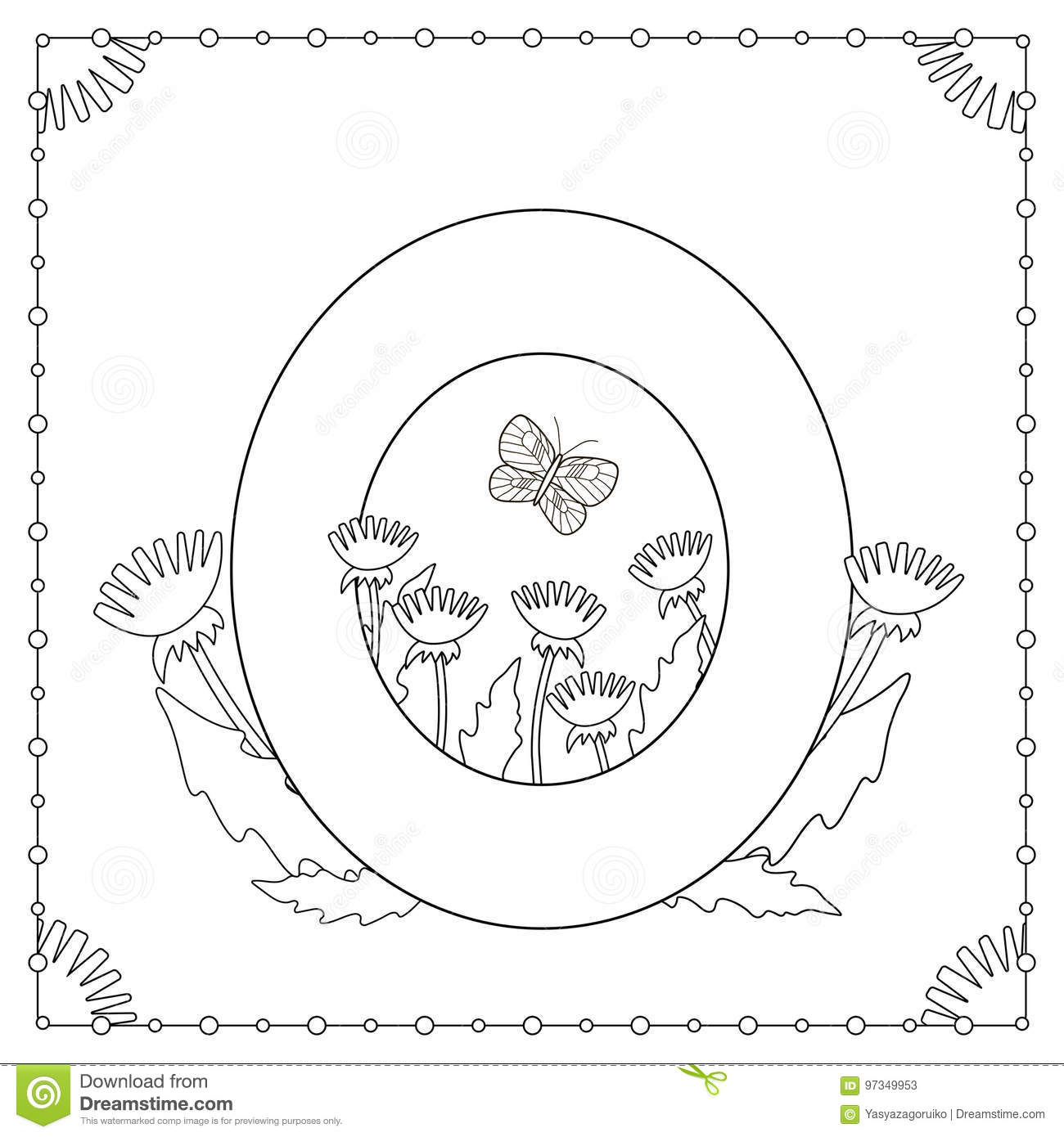 Download Alphabet Coloring Page Stock Vector Illustration Of Graphic