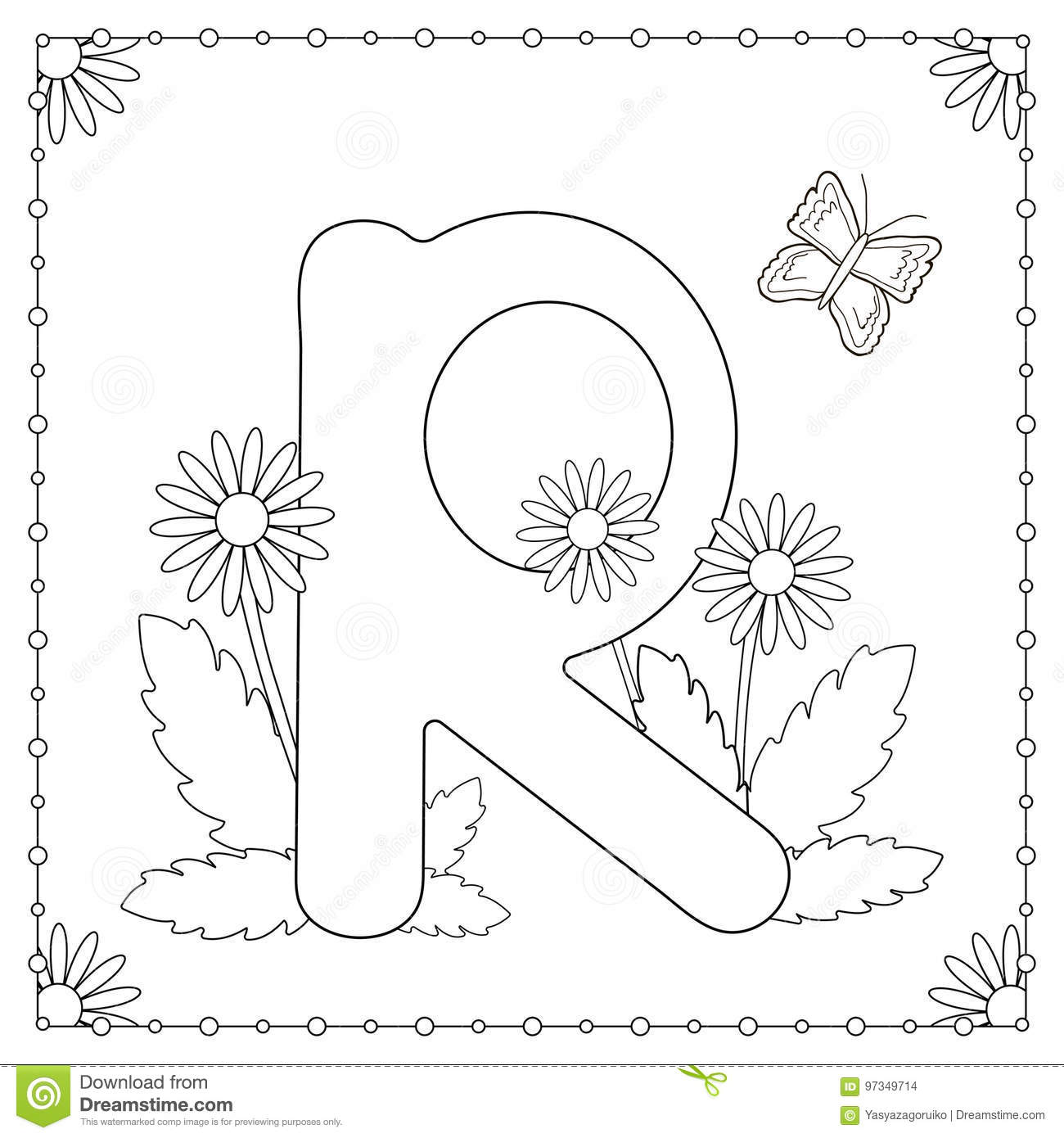 Download Alphabet Coloring Page Stock Vector Illustration Of Kids