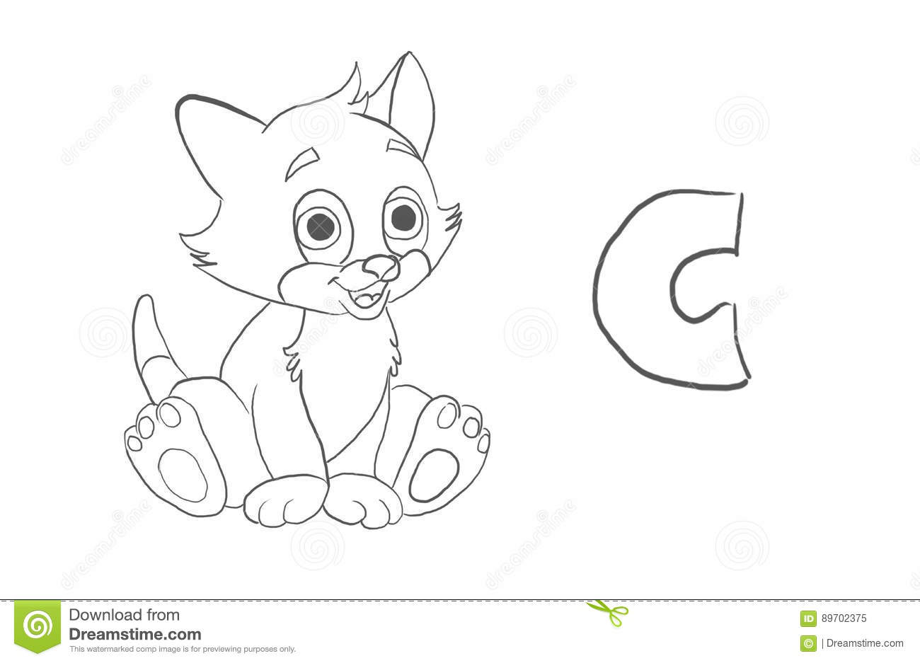 alphabet coloring pages animal series stock illustration image