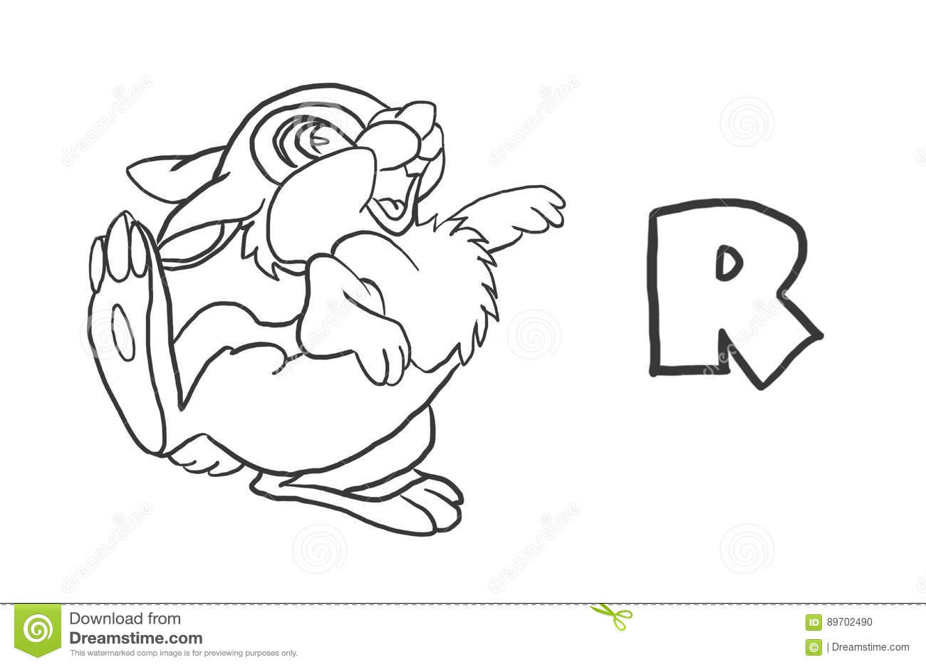 Alphabet Coloring Pages `Animal Series` Stock Illustration ...