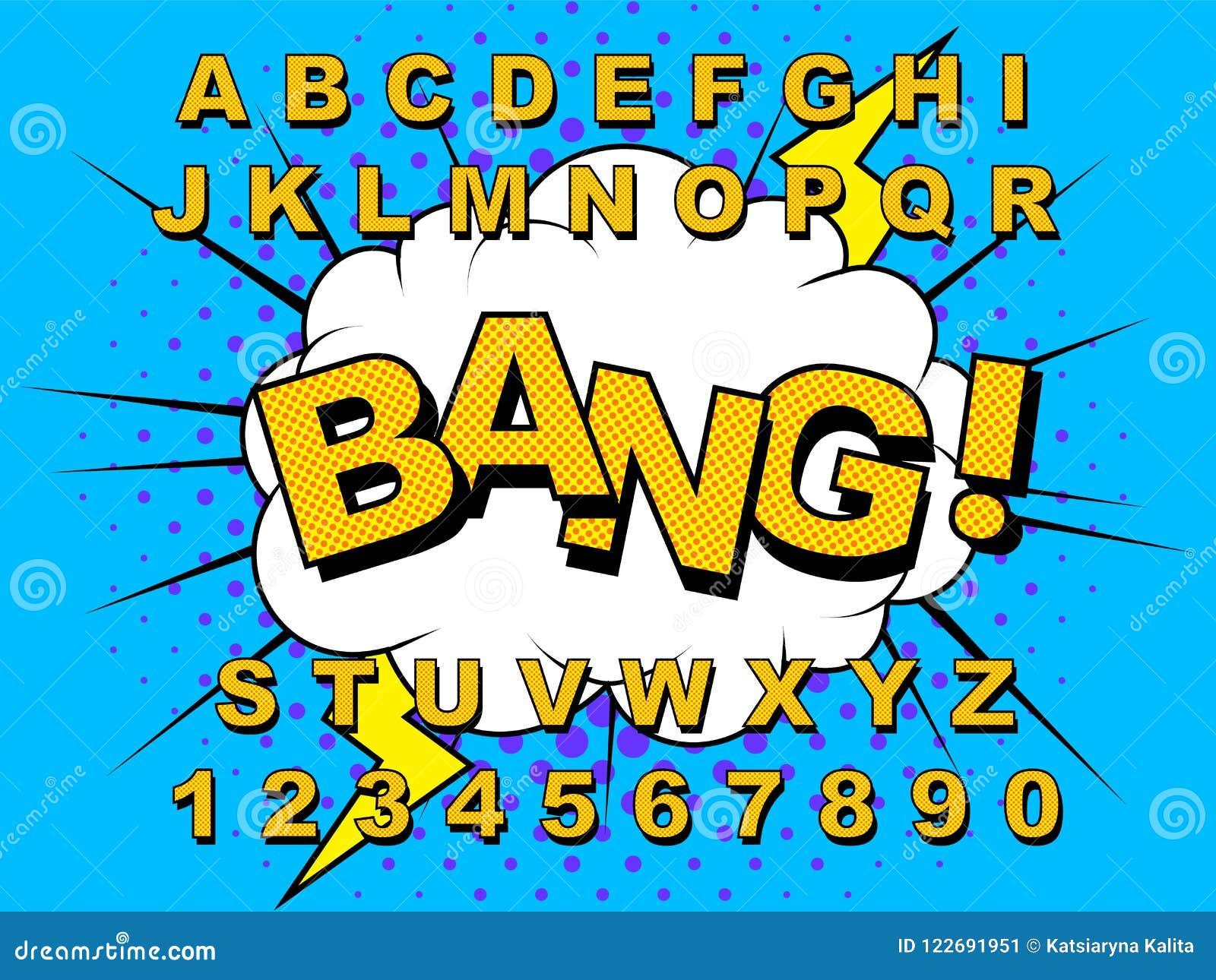 Alphabet Comic retro stock vector  Illustration of education
