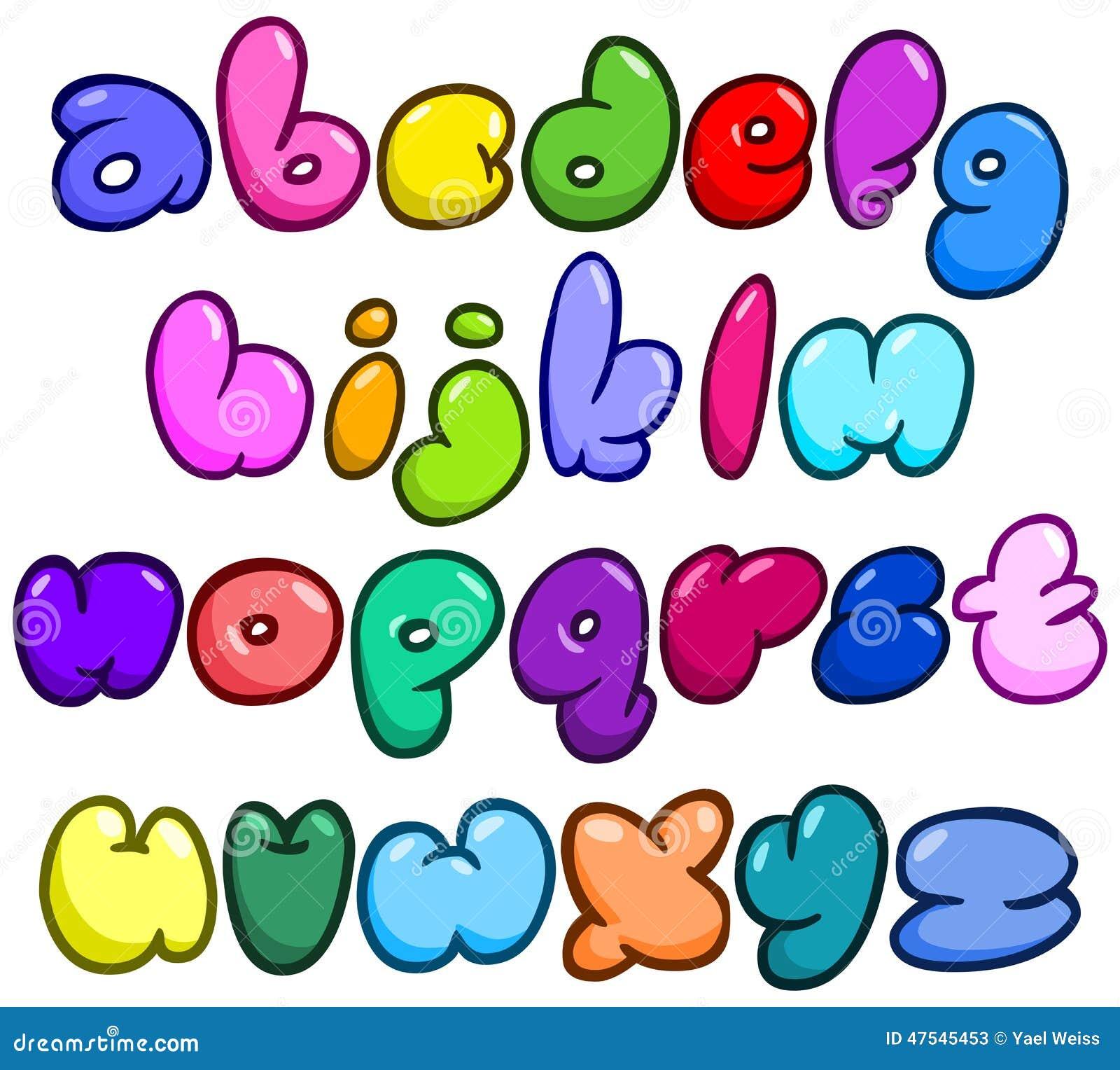 lettre bulle Alphabet Comique De Lettre Minuscule De Bulle Illustration de  lettre bulle