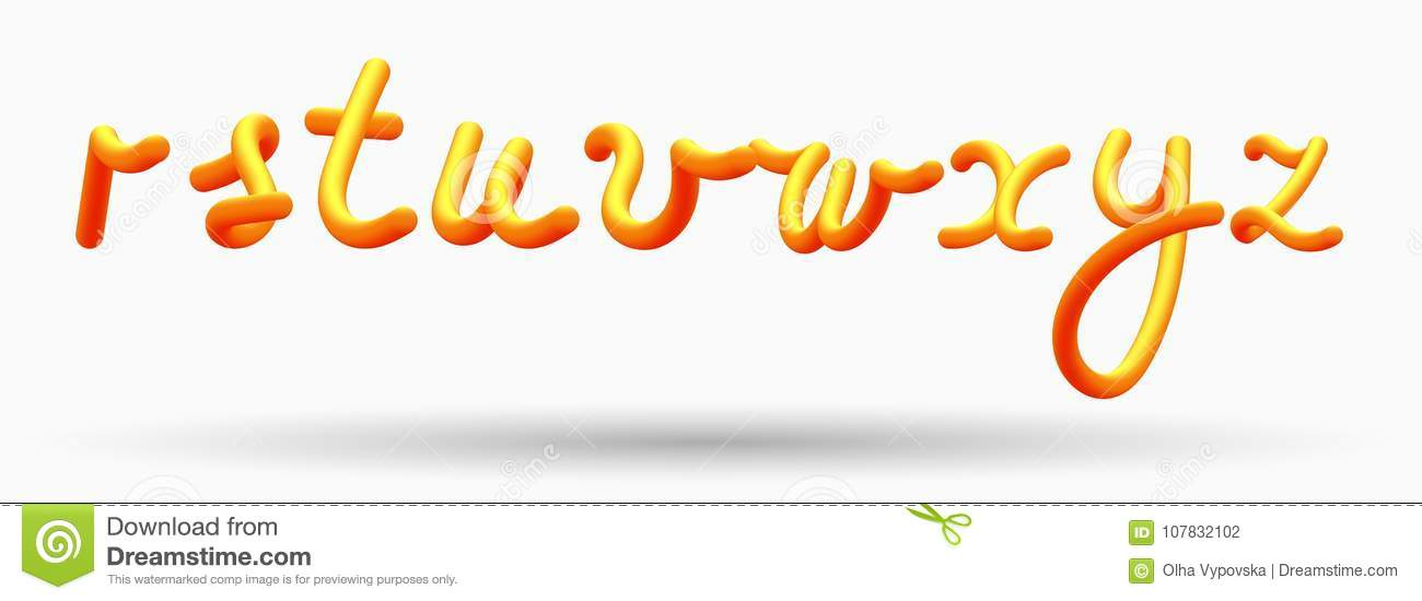 alphabet creative orange lettering glossy blended letters 3d bubble font