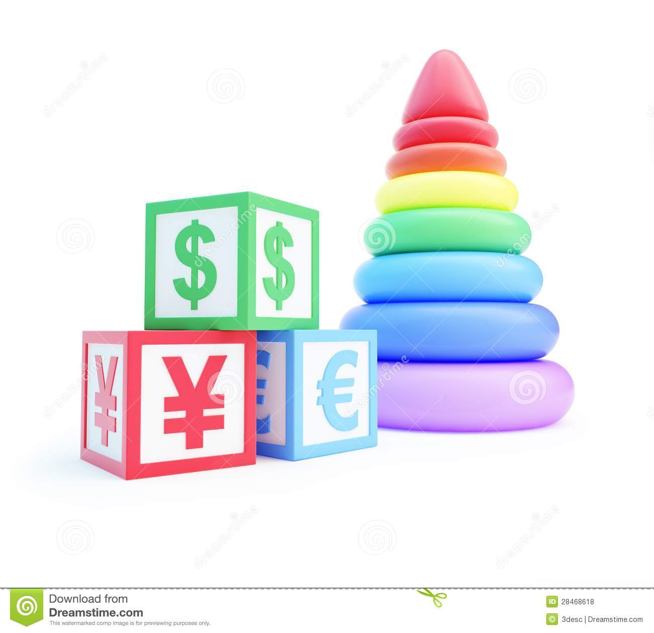 Finance Sign: Alphabet Cube Finance Sign Royalty-Free Stock Photography