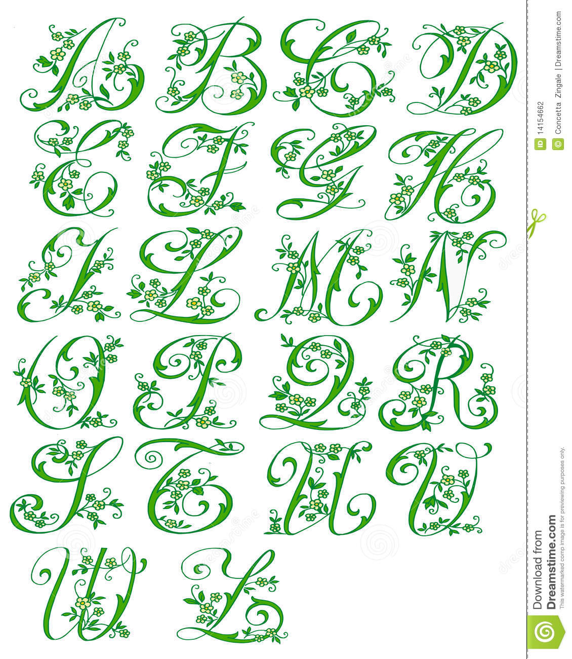 The picture shows all the letters of the color green to indicate the ...