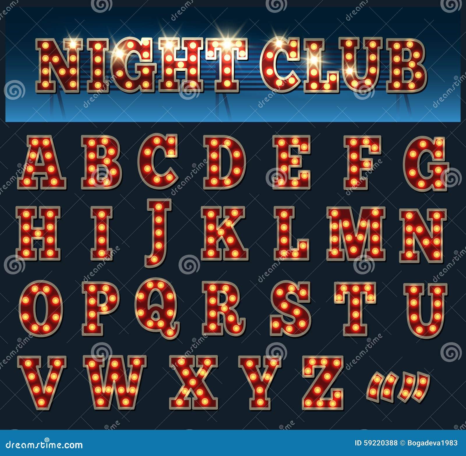 Alphabet d ampoule