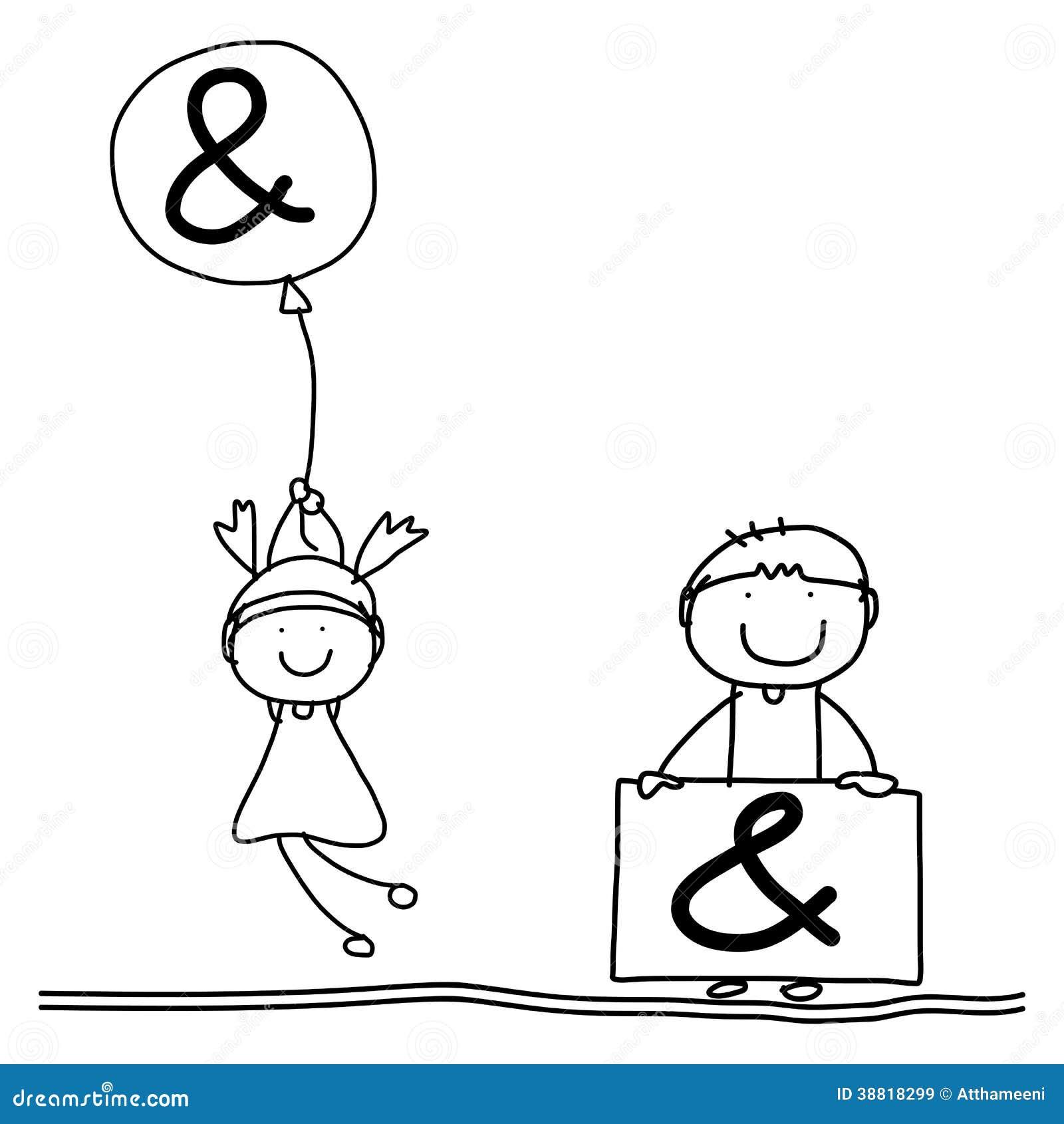 Alphabet De Bonheur De Bande Dessinee De Dessin De Main Illustration