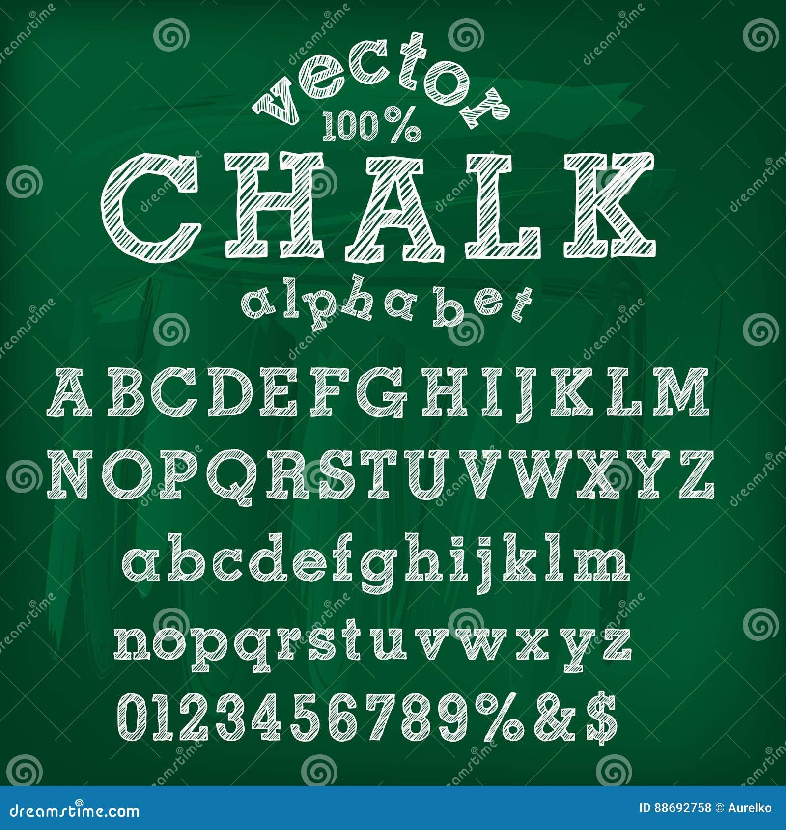 Alphabet de craie