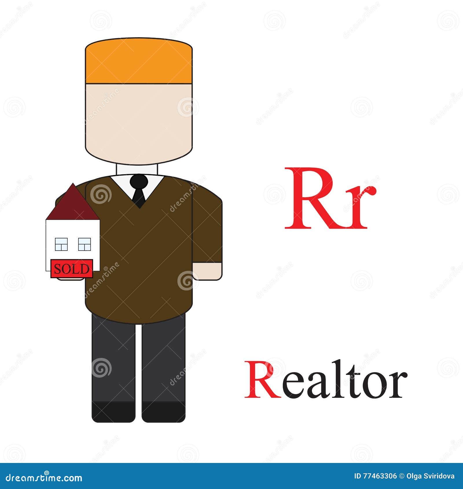 Alphabet de la lettre R des professions