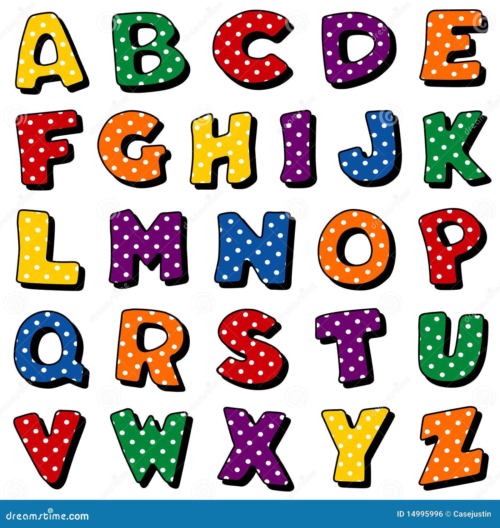 Alphabet de point de polka