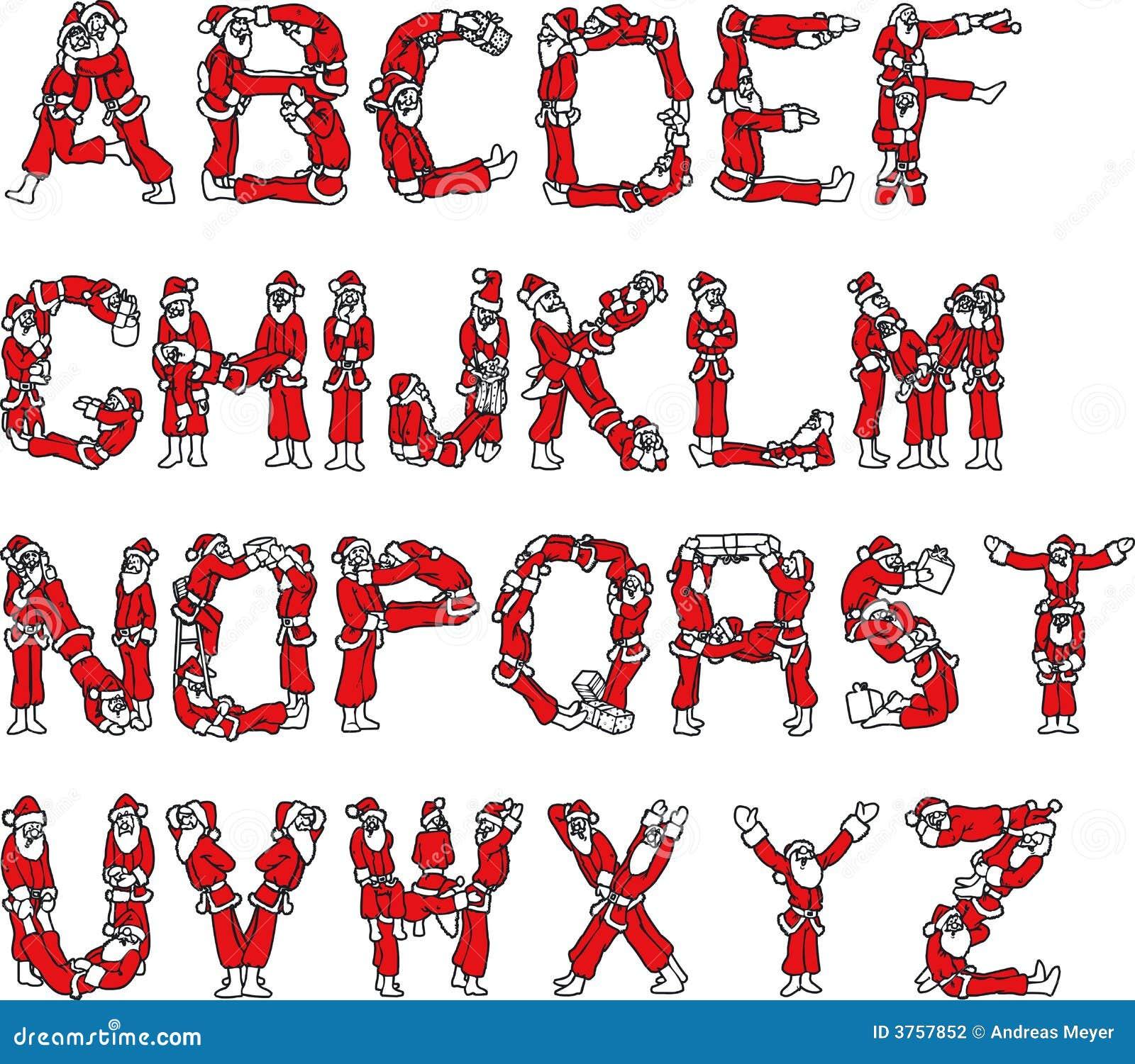 Alphabet du p re no l illustration de vecteur - Alphabet de noel ...