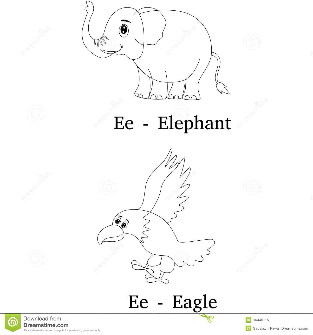 alphabet e coloring page royalty free stock photo image 34440115