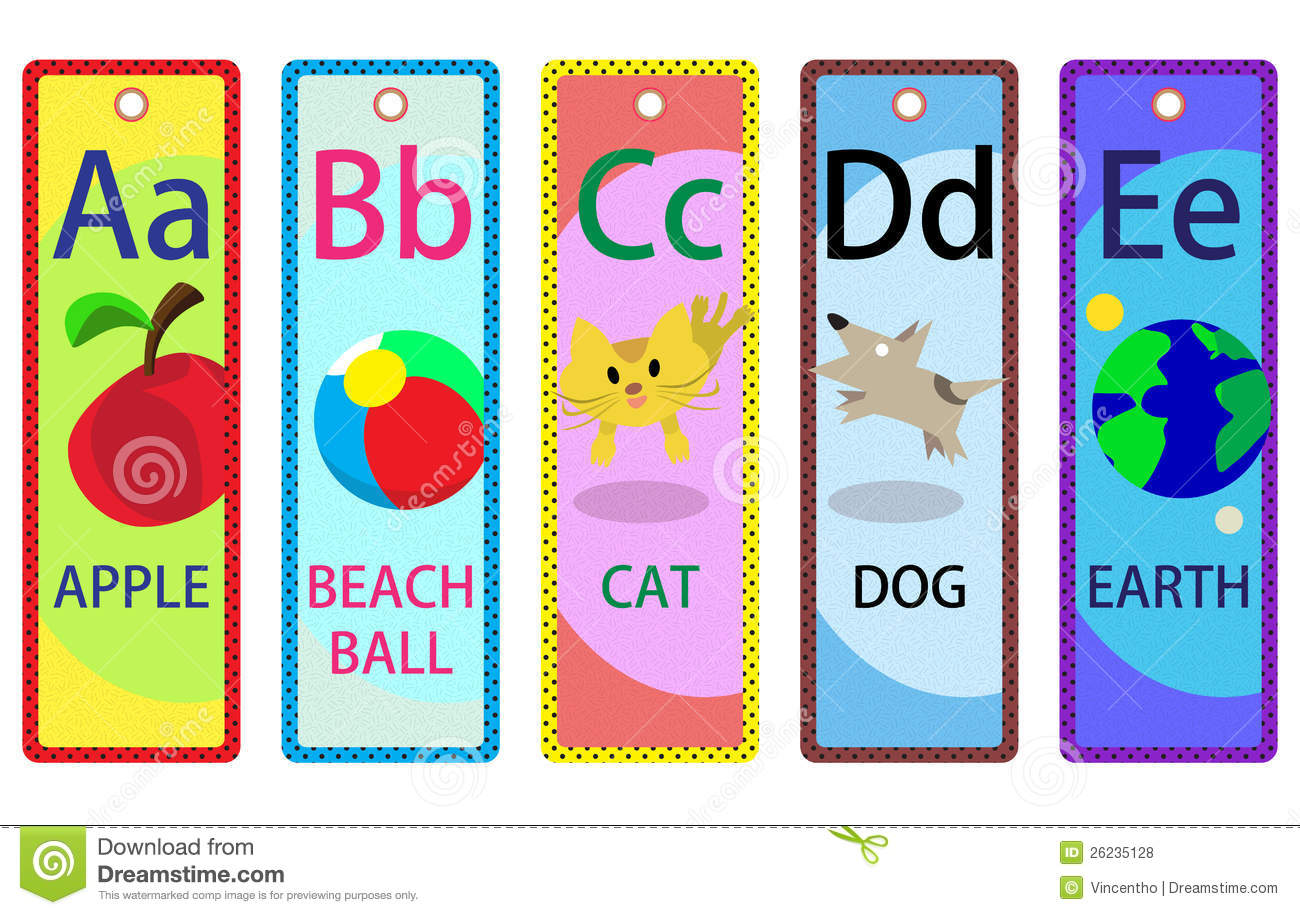 alphabet educational bookmarks a e for kids - Alphabet Pictures For Kids