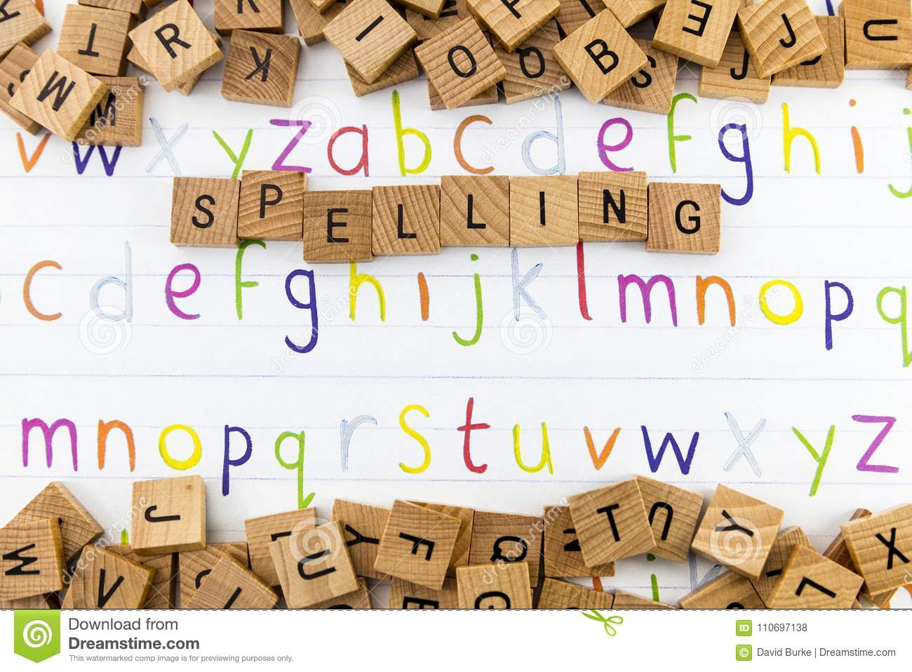 Alphabet Educational Spelling Display Stock Photo - Image of