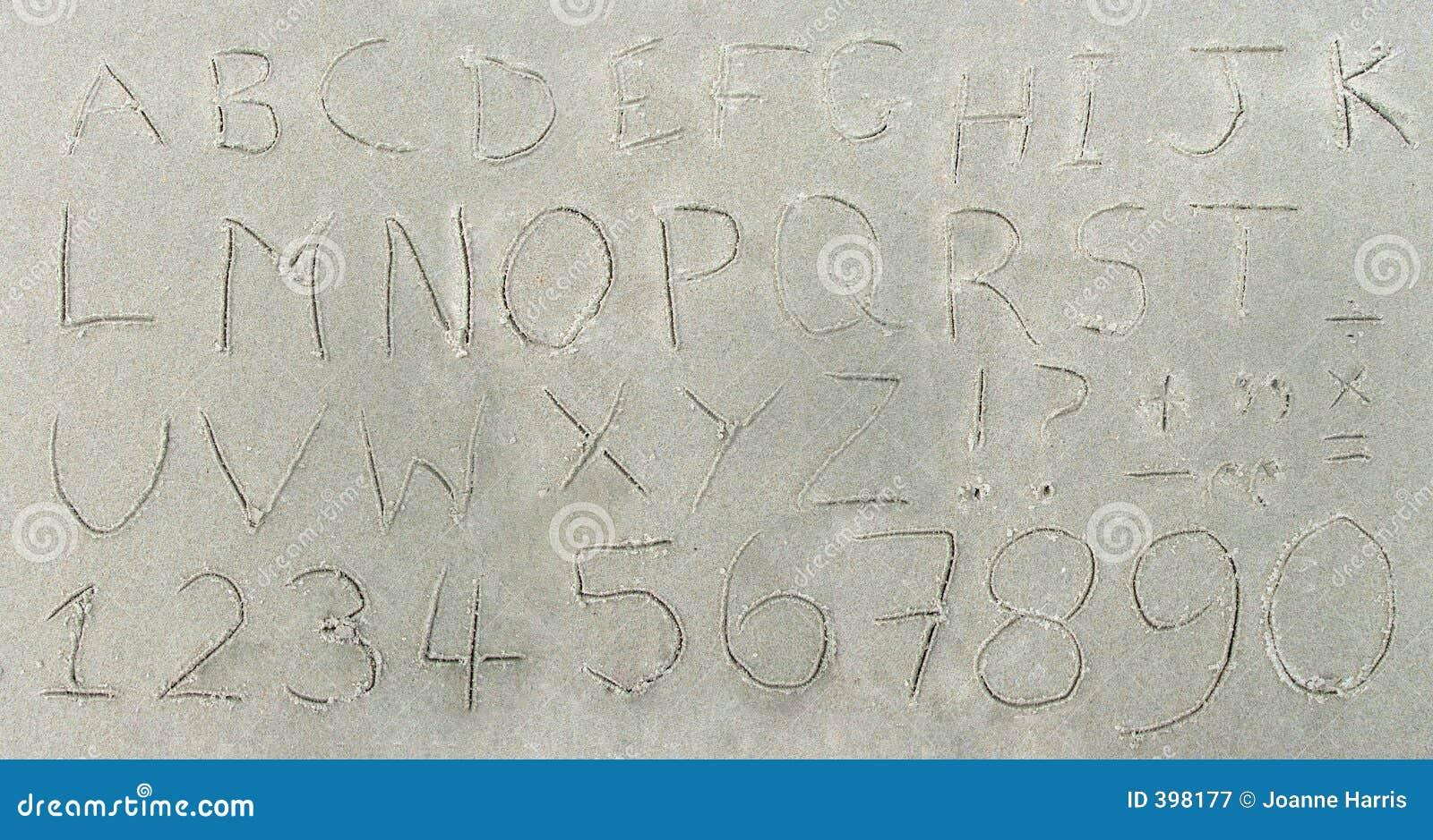 Alphabet en sable