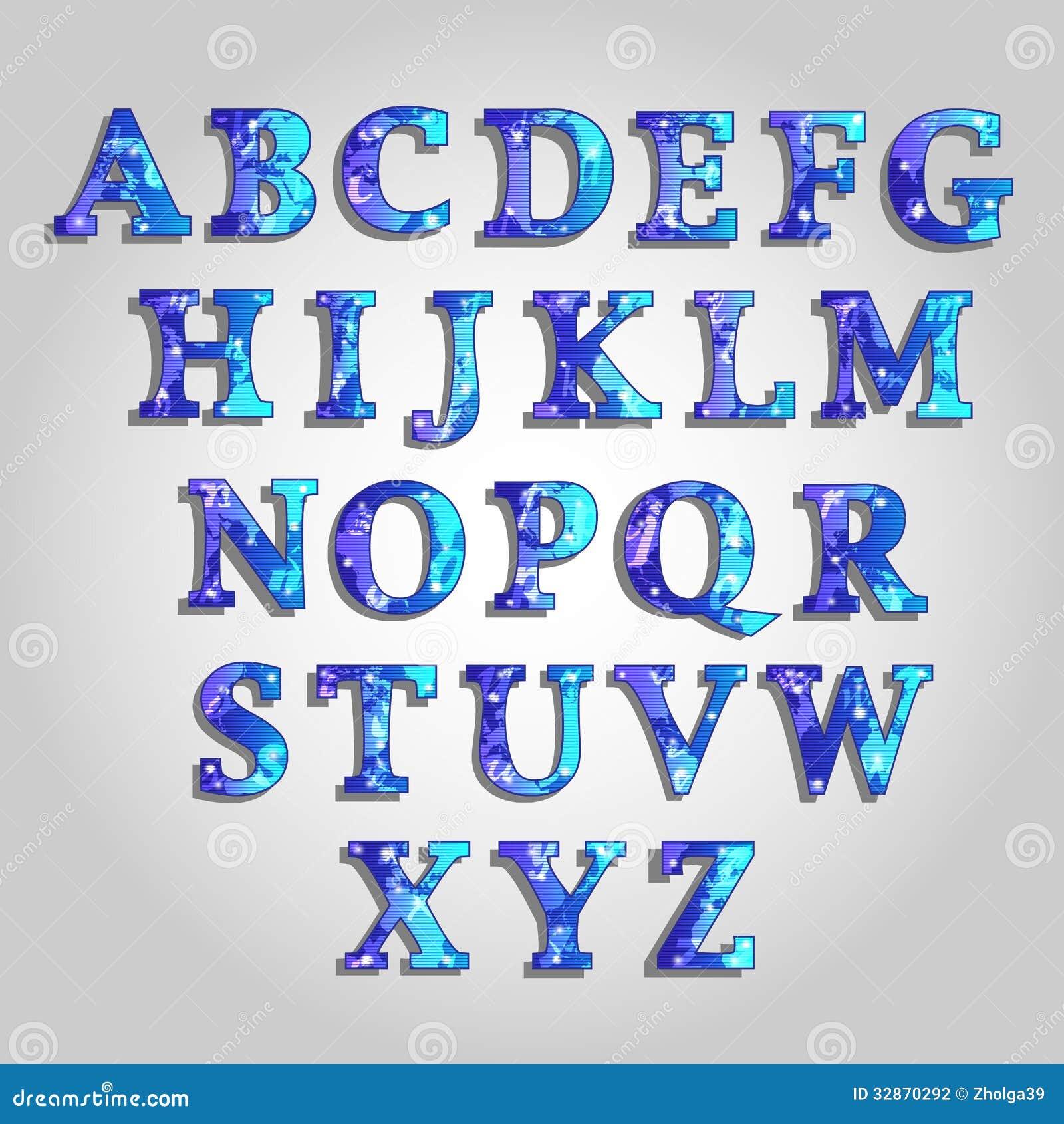Alphabet Stock Illustration. Image Of Present, Pattern