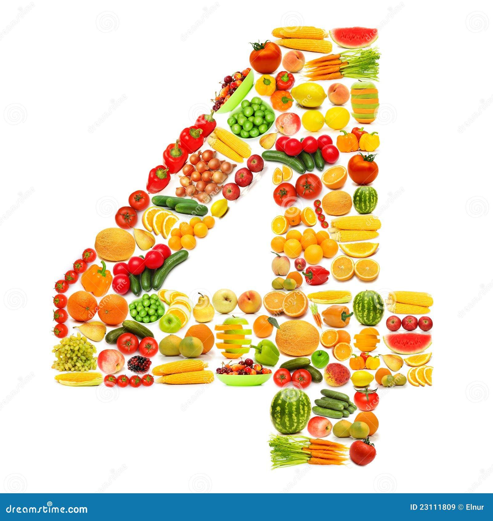 Alphabet fait de fruits et l gumes images libres de droits image 23111809 - Fruits et legumes de a a z ...