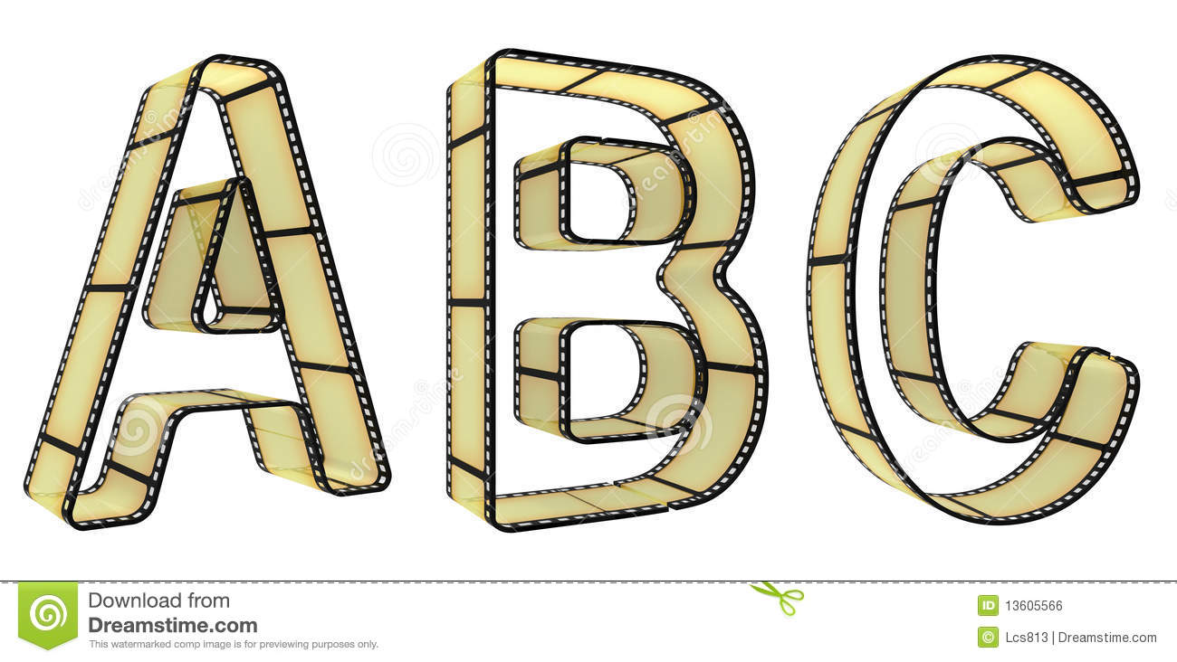 the alphabet from a film royalty free stock image image 13605566. Black Bedroom Furniture Sets. Home Design Ideas