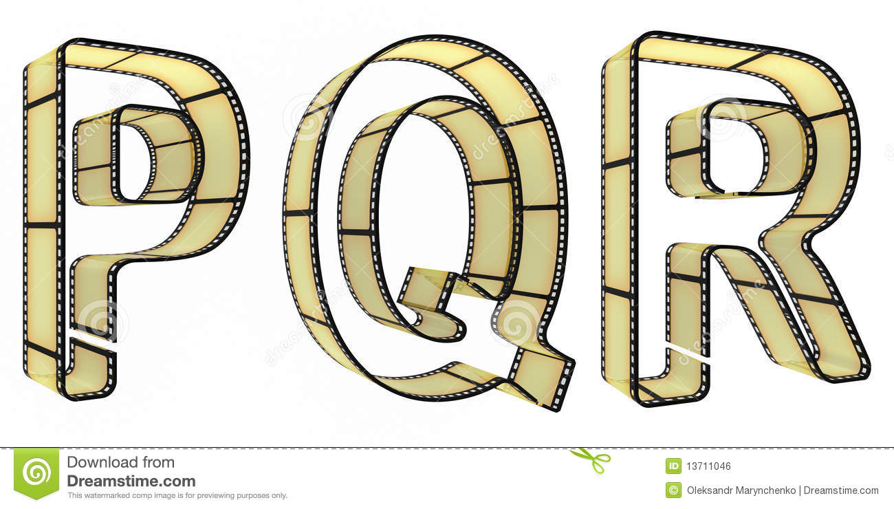 the alphabet from a film royalty free stock image image 13711046. Black Bedroom Furniture Sets. Home Design Ideas