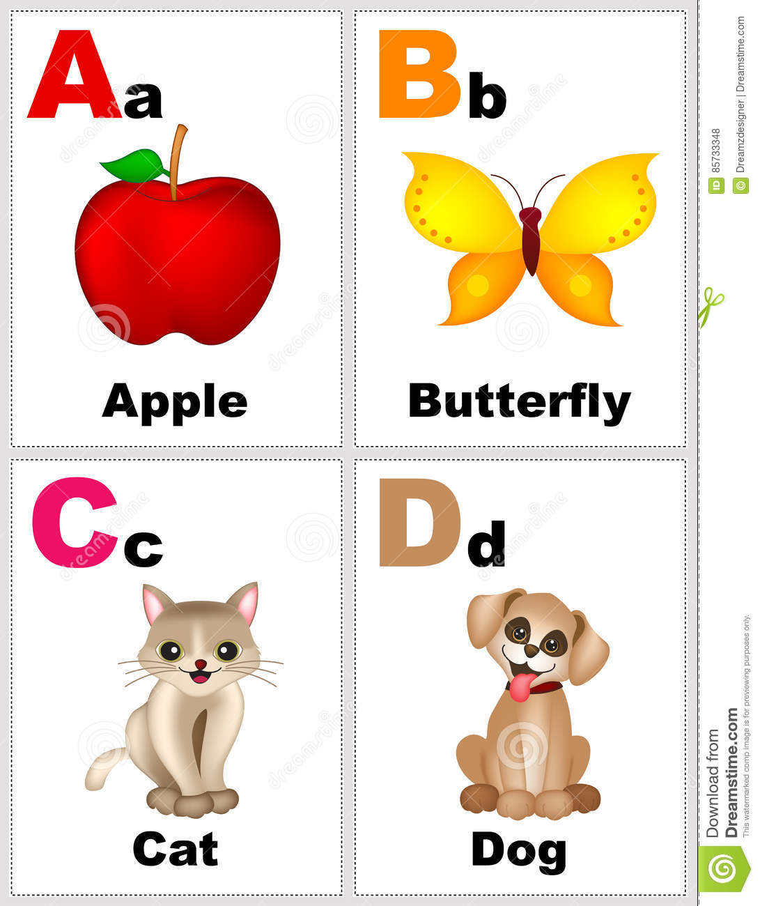 graphic regarding Printable Alphabet Flash Cards named Alphabet flashcards inventory example. Instance of