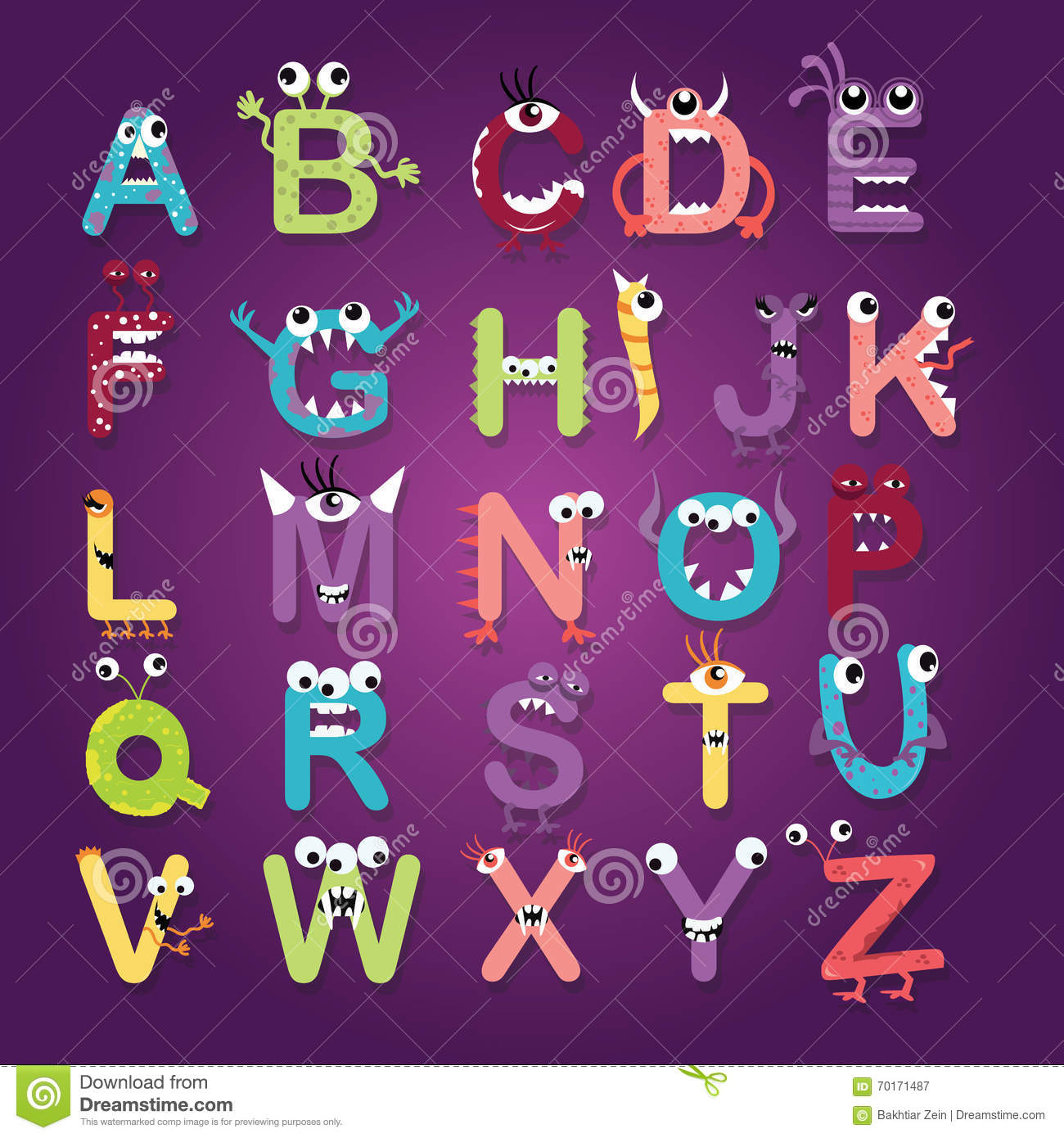Cartoon Characters Letter Z : Vector alphabet cartoon cartoondealer