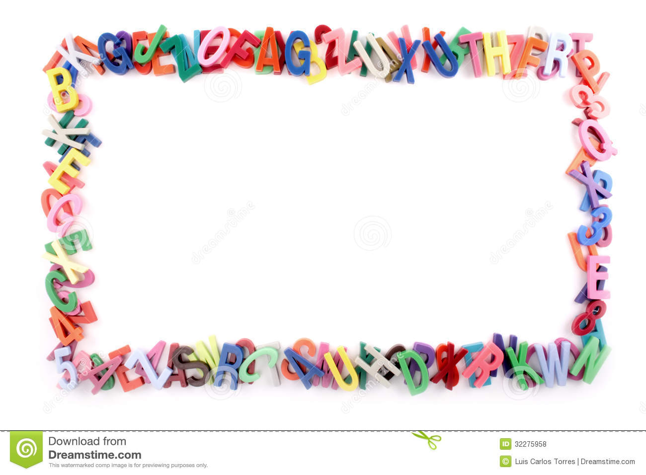 Alphabet Frame Royalty Free Stock Photos - Image: 32275958