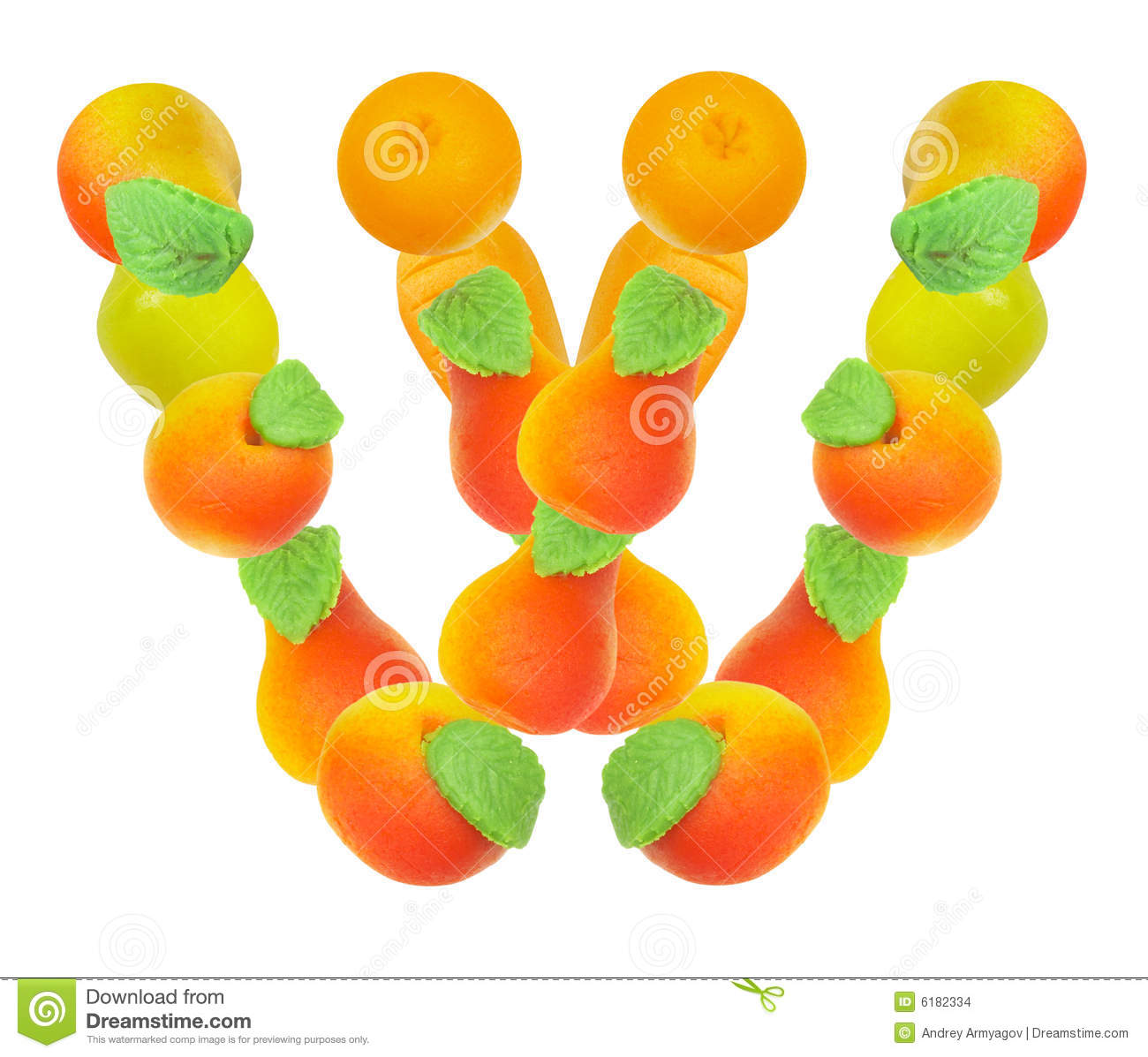 Alphabet From Fruit, The Letter W Stock Images - Image ...