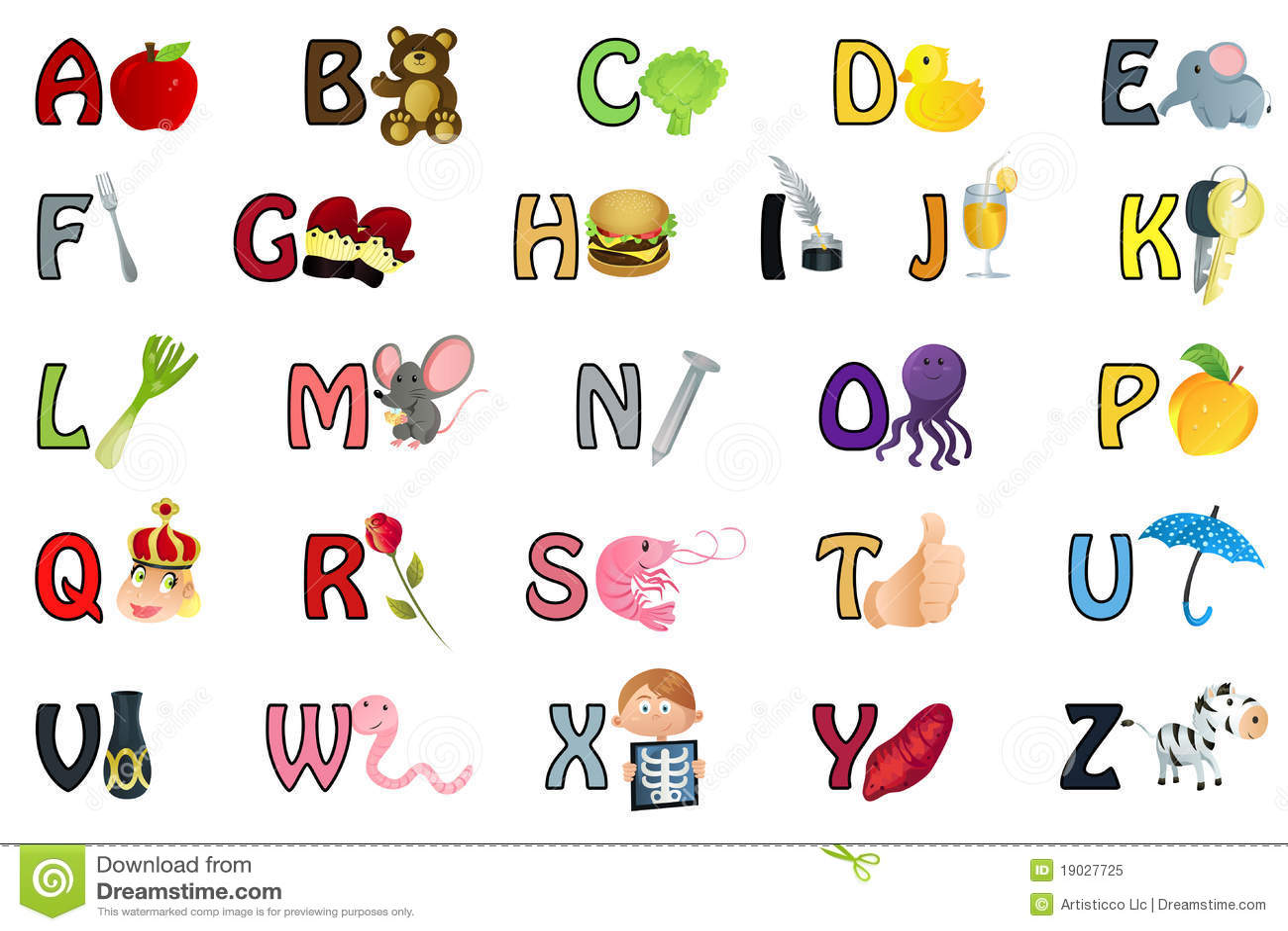 Alphabet Illustration Royalty Free Stock Photo Image