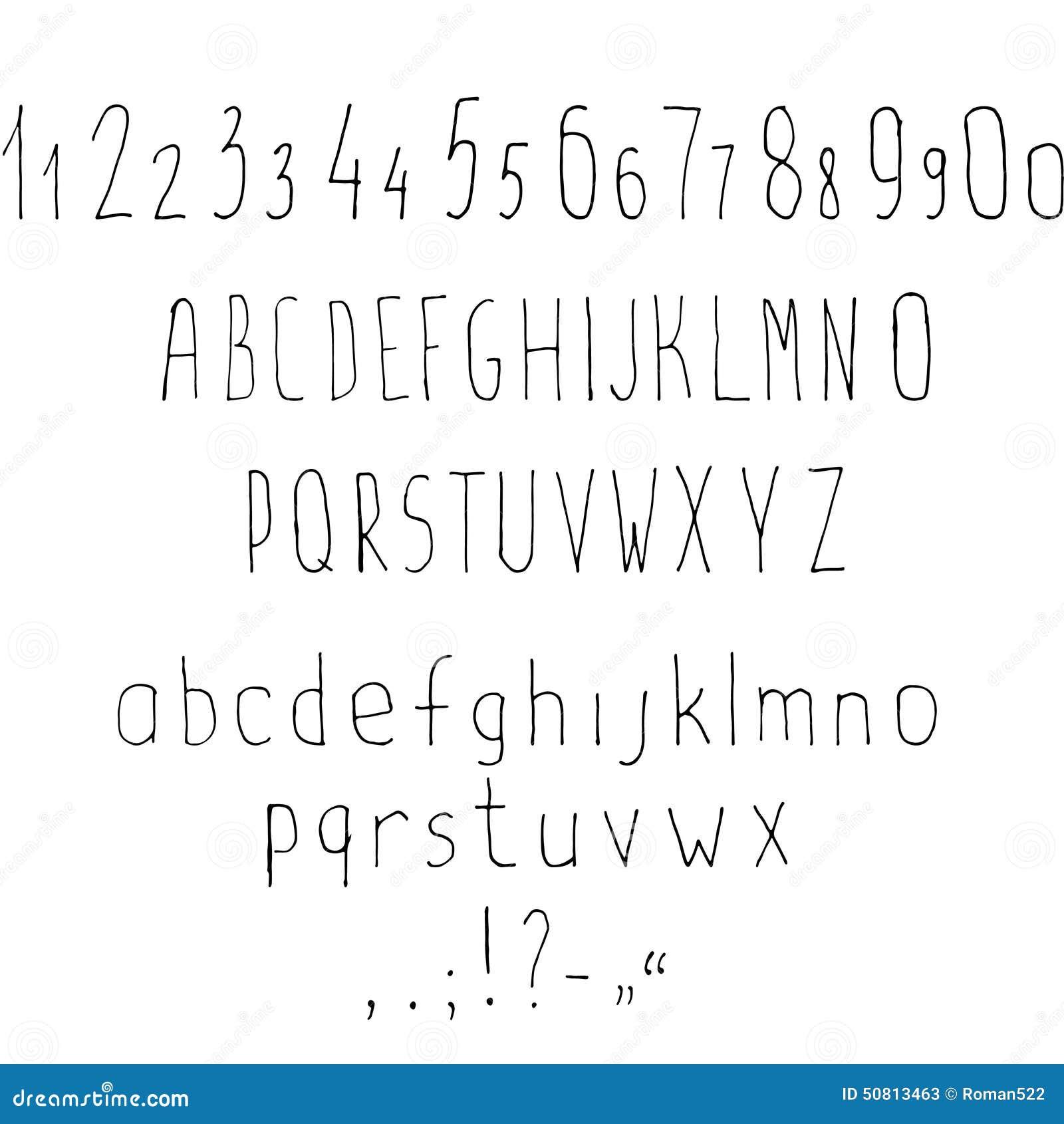 Alphabet latin stylisé