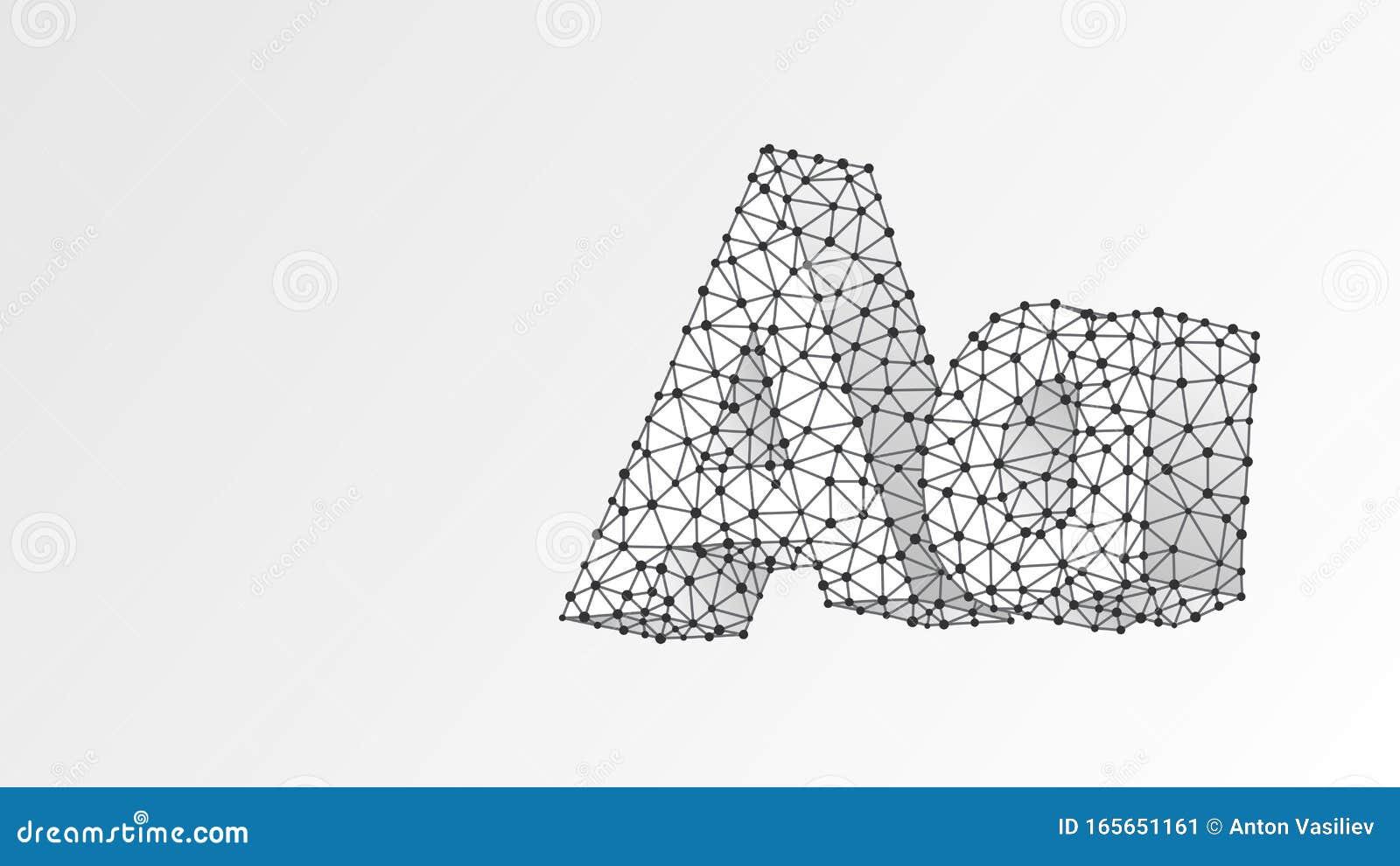 Paper Cut Out 3d Alphabet. Modern Design Font. Origami Trendy ... | 989x1600