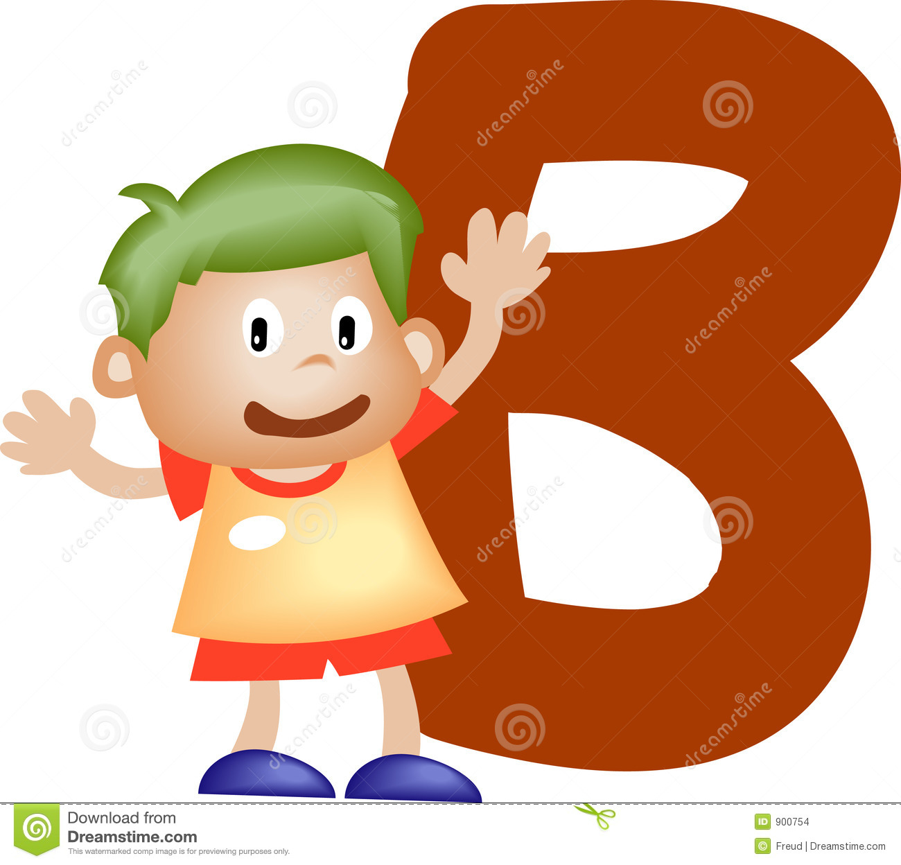 Alphabet Letter B (boy) Stock Images - Image: 900754