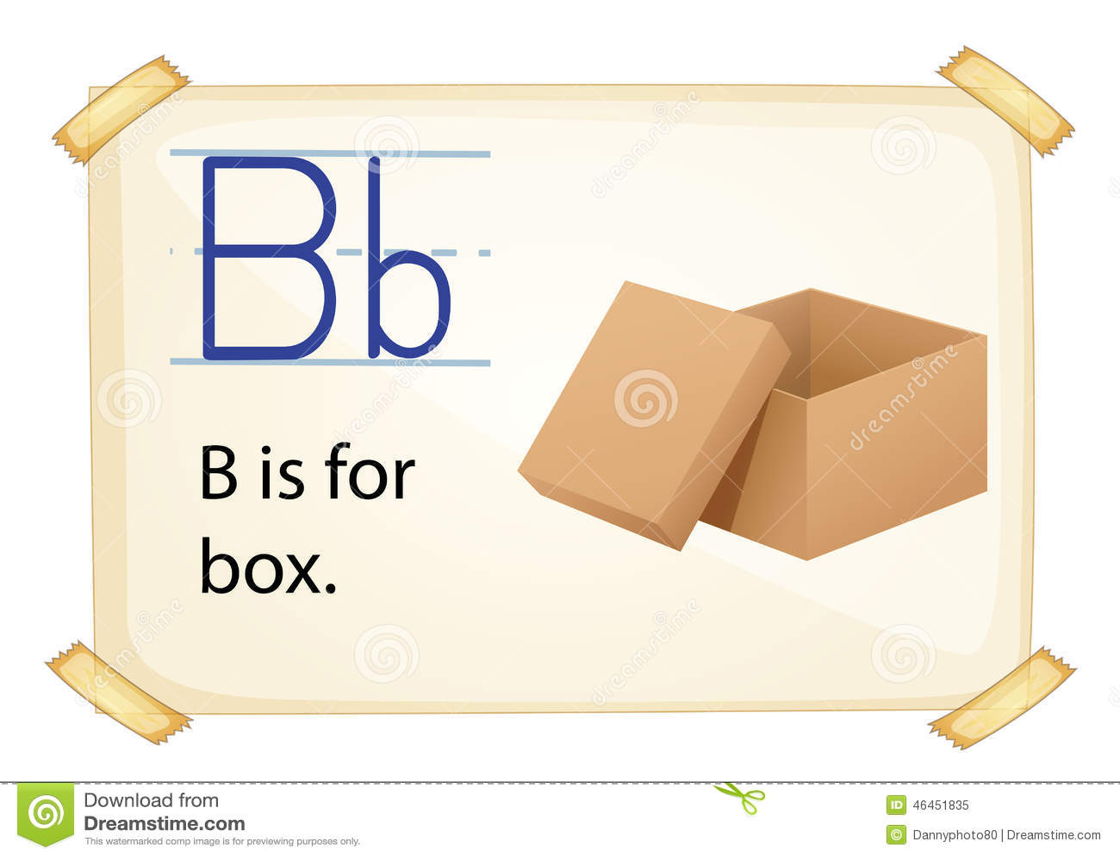 Alphabet letter b stock vector illustration of cartoon 46451835 alphabet letter b thecheapjerseys Gallery