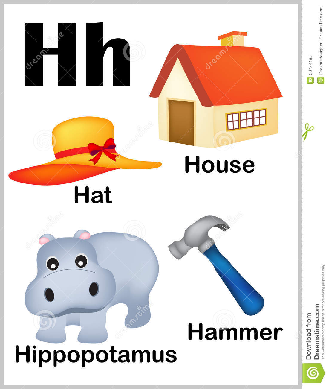 Alphabet Letter H Pictures Stock Vector