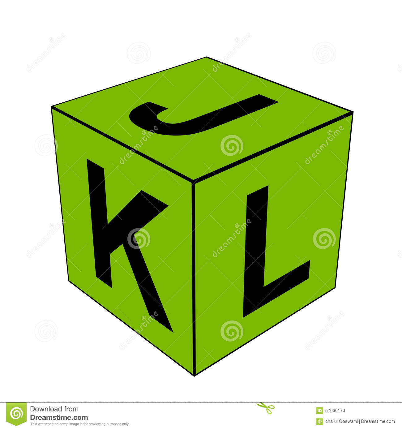 Alphabet Letter JKL Dice Stock Illustration - Image: 57030170
