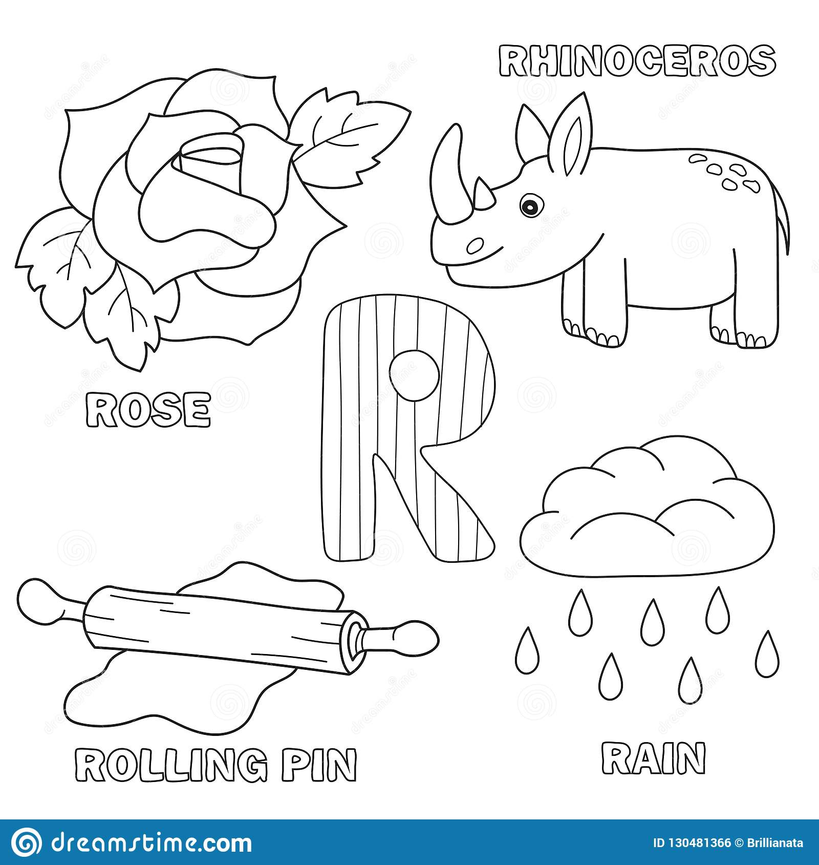 Alphabet Letter With Alphabet Letters   R. Coloring Book For Kids ...
