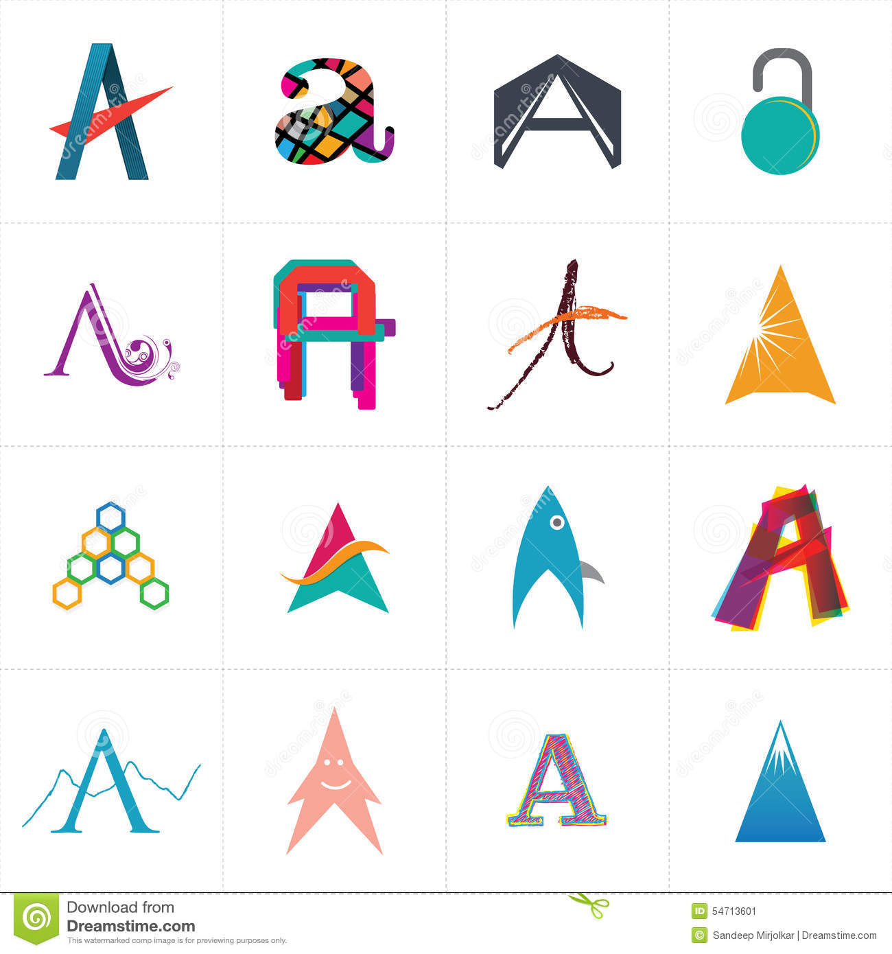 Download Alphabet Letter A Logo Design Stock Vector