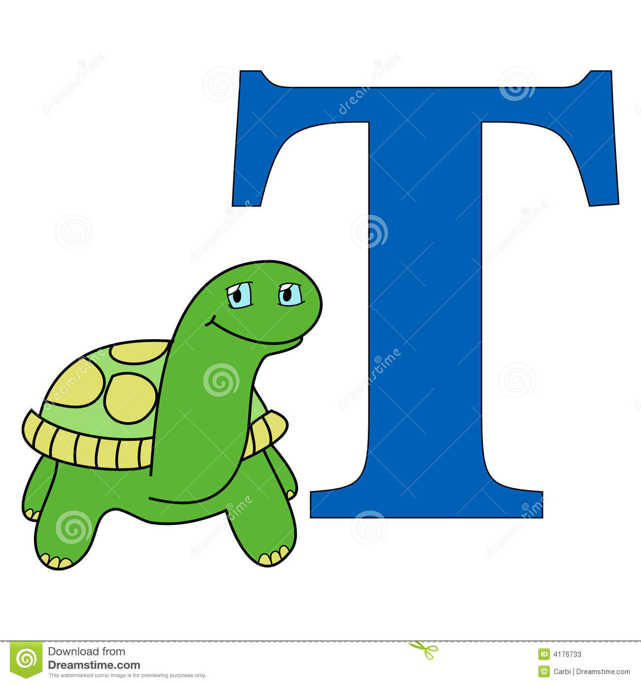 Alphabet Letter T Stock Vector. Illustration Of