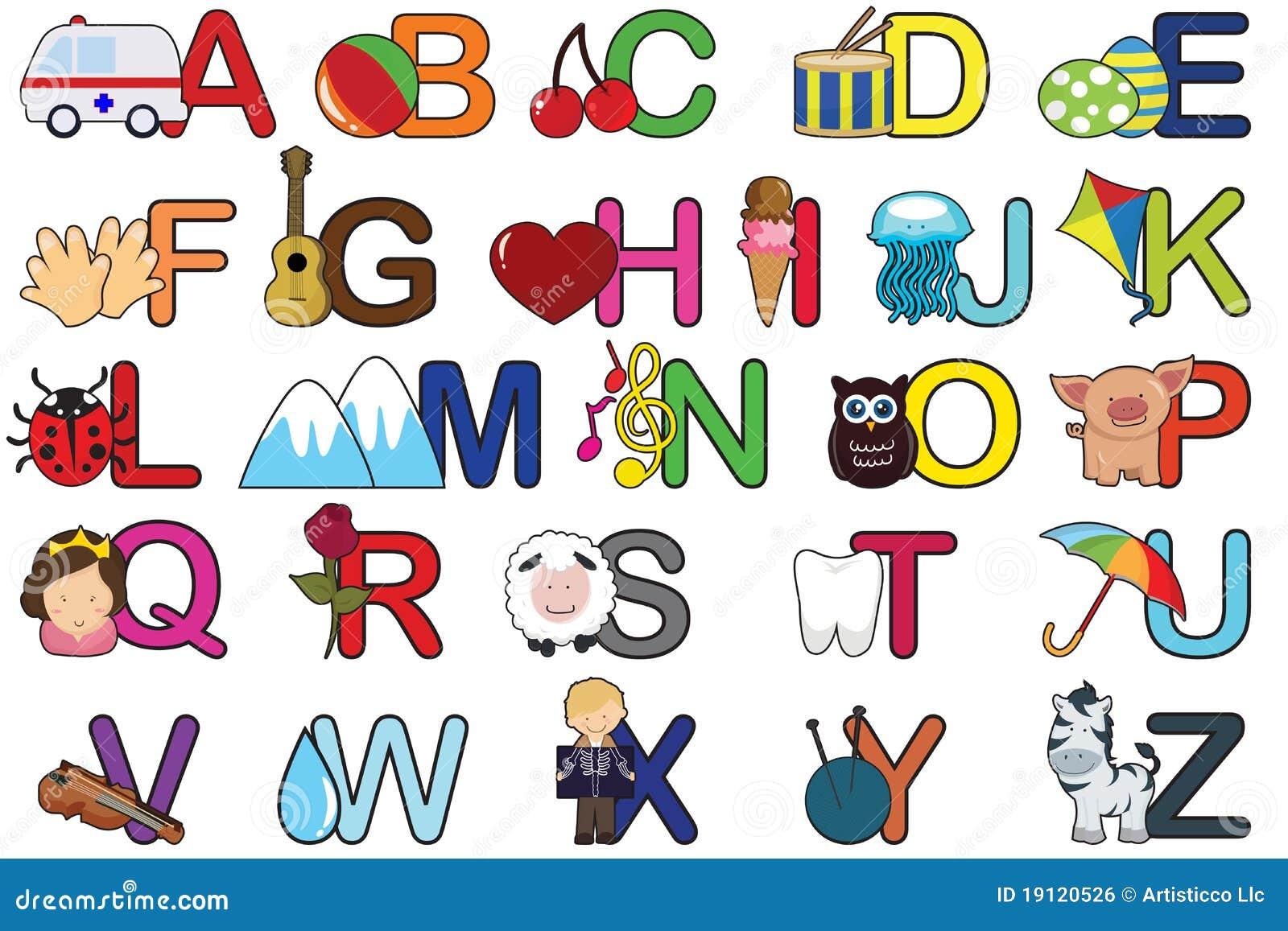 Английский алфавит нарисованный
