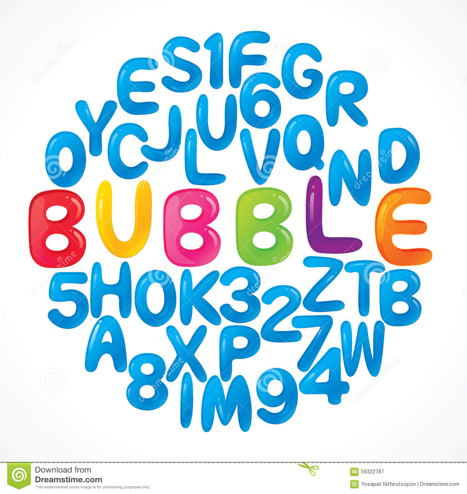 Alphabet Letters Stock Vector