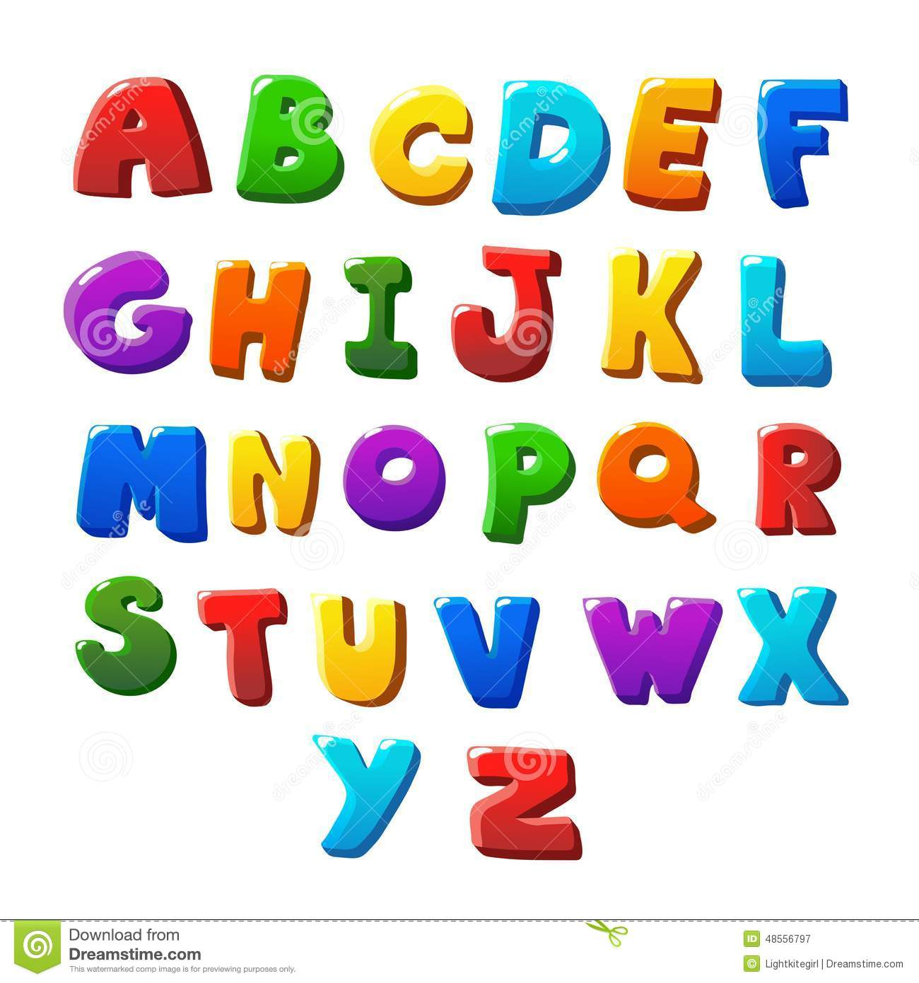 Alphabet Letters Stock Vector - Image: 48556797